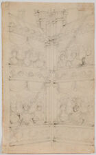 """""""In Theatre"""", Austrian Drawing, Early 19th Century"""