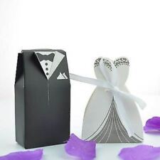 10 Bride and Groom Wedding Favours Boxes Sweets Bomboniere Table Decorations
