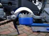 Drz /Crf / KTM / Wr / Sxv Supermoto Pied Repose Sliders Choc Champignons Bleu