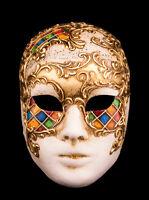 Maschera Di Venezia Viso Musica IN Carta Pesta -creazione artisanale-2152 - E9