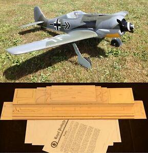 "60.75"" Ws FOCKE WULF FW-190 A-8 Rc Plane short kit/partial kit & plans, PLS READ"