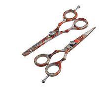 Top 2er Scheren Set Friseurscheren, Modellierschere,Effilierschere Haarscheren..