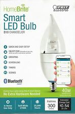 Bluetooth Smart LED: B10 CHANDLER 40W Equiv Dimmable - By Feit