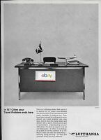 LUFTHANSA GERMAN AIRLINES BOEING 707 TRAVEL DESK TO 127 CITIES ENDS HERE AD