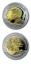 Poland Warsaw Born Poets T. Gajcy 10 Zlotych 2009 Proof Silver Crown