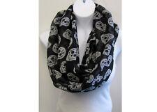 Black with White Skull Scarf us seller