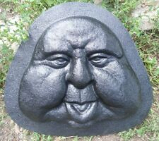 Plaster or concrete casting plastic mold funny garden face  #2