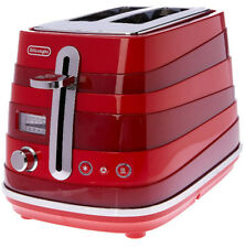 DeLonghi Avvolta 2 Slice Toaster - CTA 2003R - Red Grill Electric Gift Cooking