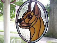 Stained Glass Great Dane Sun catcher (Real Glass)
