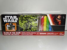 Star Wars Glow In The Dark Poster Activity W/ 3 Posters & 5 Markers & stickers
