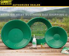GARRETT GOLD PANNING PAN KIT 1651310 classifier snuffer bottle vial + more