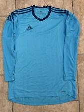 Size 7 Blue Goalkeeper GK Shirt Adidas Adizero Player Issue Version