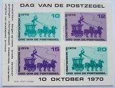 Stadspost Arnhem 1970 - Blok Dag van de Postzegel Postkoets