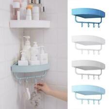 Triangular Shower Caddy Shelf Bathroom Corner Bath Storage Holder Organizer Y4T1