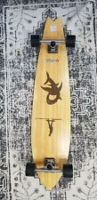 "Street Surfing Longboard Retro Skateboard Shark Bamboo Maple Wood 42"""