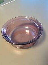 CORNING CRANBERRY GLASS 16 OZ. BAKING DISH GOOD FOR MICROWAVE, FREEZER OR OVEN