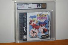 Pocket Fighter (PS1 PSX Playstation) NEW SEALED Y-FOLD W/UPC, MINT GOLD VGA 90+!