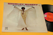 SHIRLEY BASSEY LP DOES ANYBODY MISS ME ORIG UK 1969 LAMIANTED COVER