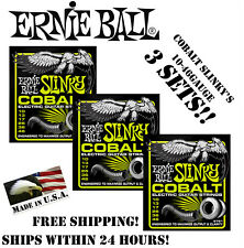 ** 3-PACK ERNIE BALL COBALT REGULAR SLINKY 2721 ELECTRIC GUITAR STRINGS **