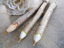 3 Birch Tree Branch Pens Wooden Twig Pens for Weddings & Graduations