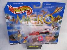 HOT WHEELS PLANET MICRO Mini size SURF'S UP Playset w-Figures #89938 1999 boat