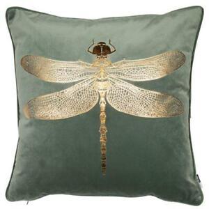Dennis Copper Sofa Cushion Pillow Green Dragonfly Polyester