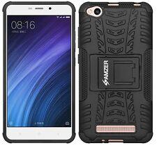 AMZER Rugged Dual Layer Hybrid Warrior Case Media Stand Xiaomi Redmi 4a - Black