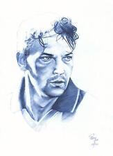 Quadro con disegno Roberto Baggio calcio Juve Milan Inter