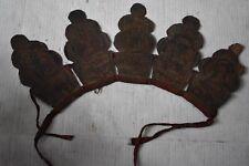 "$499 Orig Nepal Tibet Shamans Crown, 14"" 1900S prov"