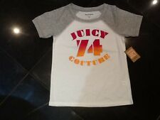 NWT Juicy Couture New Girls Age 10 White Cotton T-Shirt With Velvet Juicy Logo