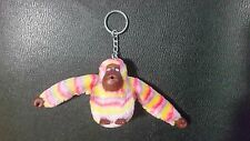 Kipling Monkey Keychain Pre-owned Extremely Rare Multicolor Stripes No Name Tag