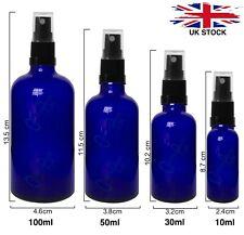 BLUE GLASS  Spray Bottle ATOMISER SPRAY Mist Sprayer for Oils Sanitisers Perfume