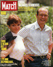 paris match n°1995 chirac & sa fille diana monaco corse