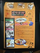 McDonald's 2001 Monopoly Crew Newsletter And 3 Sealed Lapel Pins. Free Shipping!