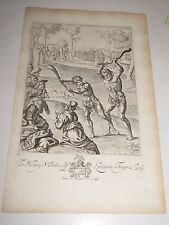 Antique Print Engraving 1698 To Henry St. John of Lydiard Tregoz  Lombart