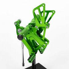 CNC Rearset Rear Sets FootPegs For Kawasaki ZX6R 636 9R10R14R ZZR600 Z750 Z800