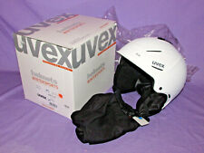 NEW w/ BOX and Tags! UVEX P1US Ski Snowboard HELMET sz MED 55-59cm White Mat ~