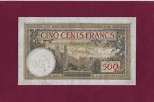 MOROCCO Maroc  500 Francs  1947 P-15 KEY DATE RARE FINE