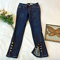 Pilcro and the Letterpress Crop Jeans Skinny Size 26 2 Snap Ankle Anthropologie