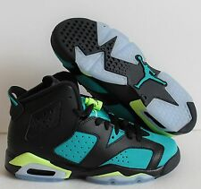 NIKE AIR JORDAN 6 RETRO GG BLACK-VOLT-GREEN SZ 4Y-WOMENS SZ 5.5 [543390-043]