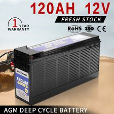 AGM Battery 120AH Deep Cycle Batteries Slim Camping Marine 4WD Solar 12V