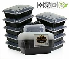 Reusable Food Containers Plastic Storage Lunch Box 10pc Meal Washable Tupperware