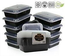 Réutilisable alimentaire contenants de rangement en plastique boîte déjeuner 10pc repas lavable tupperware