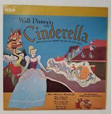 Walt Disney Cinderella & 20,000 Leagues Under Sea Rca Reissue Album Record 1964