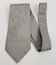 Bosa 100% Silk Necktie Tie Light Silver Gray Floral Pattern