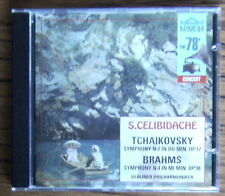 CELIBIDACHE & BERLINER PHIL Tchaikovsky & Brahms Symphony No.2 & No.4 CD (1999)