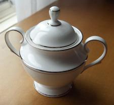 Lenox Fine China Federal Platinum covered sugar bowl~Made in USA~pristine~NR