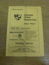 11/02/1967 Ashford Town v Hinkley Athletic  (Folded). Bobfrankandelvis the selle