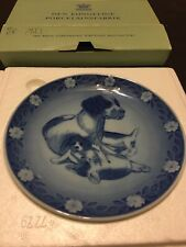 "B & G Royal Copenhagen Mother Dog and Puppies Collector Plate 1986 -Size 6"" Wbox"