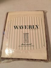 "Waverly Sheer Panel 60"" Wide X 84"" Long Brown Drapes"